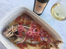 Baked Whole Baby Snapper - A Simple Summer Favourite