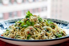 Crab, Lime & Chilli Spaghetti
