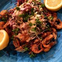 Fried School Prawns & Summer Slaw